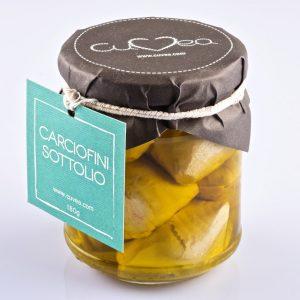 Ganze Artischocken in Olivenöl
